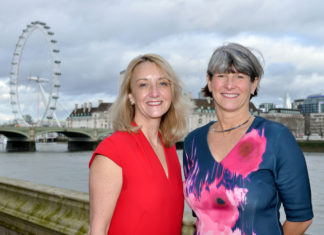 Leigh Jagger and Claire Fennelow at the House of Lords following the EVCOM Fellowship Lunch